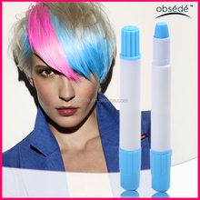 Hot sale 12/24 colors set China round temporary hair chalk,hair color chalk oil pastel