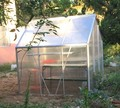 folding aluminum cold frame greenhouse