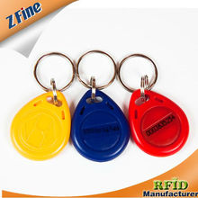 HOT!!!!!EM4100/EM4200/T5577 ABS rfid keyfob with different color and size choosed for door access control in ShenZhen