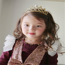 Baby headband pearl crown princess children hair accessories cute cheap wholesale manufacturers selling support AHB170