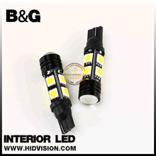 T10 180lm 6000K 8-SMD 5050 + 1-SMD LED Light Car Width Lamp For Parking Light,Turn Signal blinker Light, Daytime Running Light