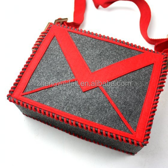 Fashionable Wholesale Eco Friendly Promotional Foldable Felt Tote Shopping Bag