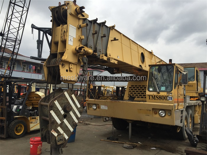 construction machinery TMS800B 80 ton GROVE used truck crane for sale