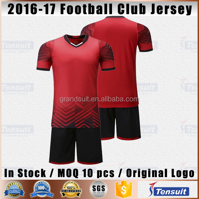 Newest design wholesale hot club football jersey sublimated made sports clothing men dry fit football t shirt