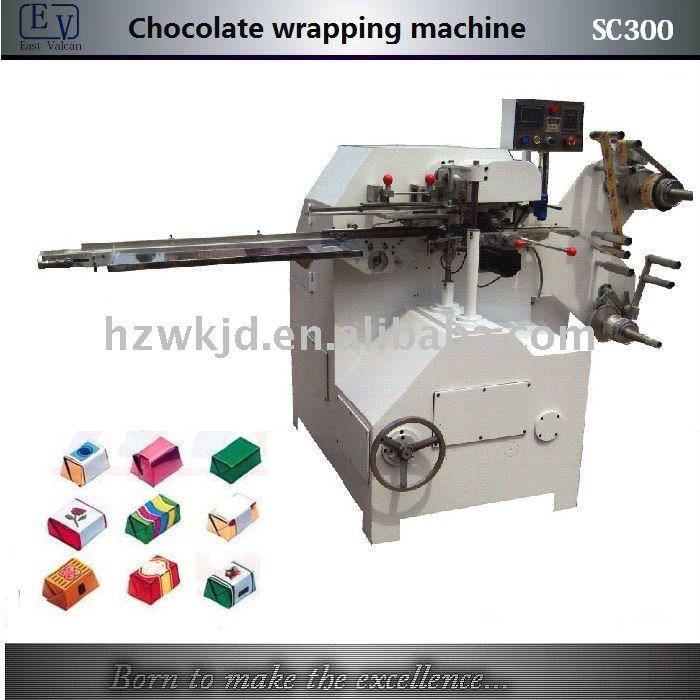 SC300 chocolate fold wrapping machine
