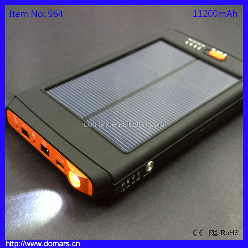 Real capacity Solar Car Power Bank 11200mah Mini Car Jump Starter Portable External Battery Pack The Best Mobile Power