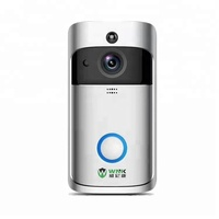 Smart visual wifi front door bell 720P network intercom doorbell home security wireless camera