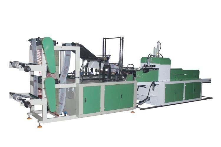 CE Certification Cold Cutting Bottom Sealing Poly Plastic Carry Nylon Bag Making Machine