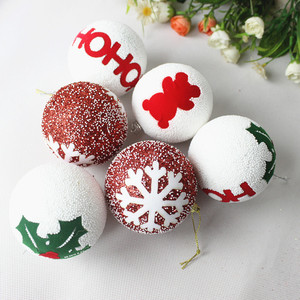 DM 640 Wholesale new 2017 Christmas tree pendant decoration foam ornament tree decor holiday gift christmas ball