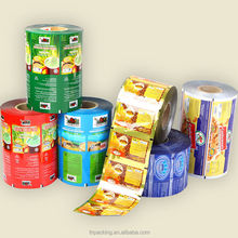 Popular moisture proof laminated plastic foil packaging rolls, customized size and printing are available