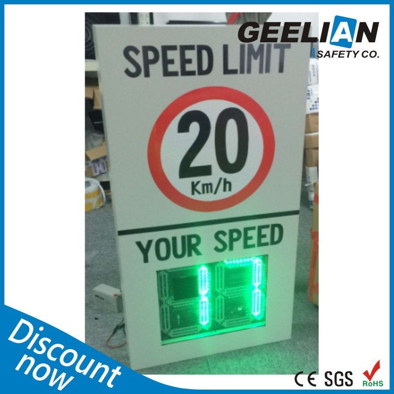 Radar Speed Limit Sign With Holder Outdoor Support LED Car Speed Measurement Display