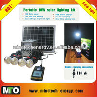 solar kits from china with 4 led bulbs home lighting and USB mobile charger
