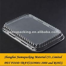 clear disposable biodegradable pet food tray