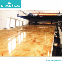 PVC plastic artificial marble plate sheet board production line extruder machine