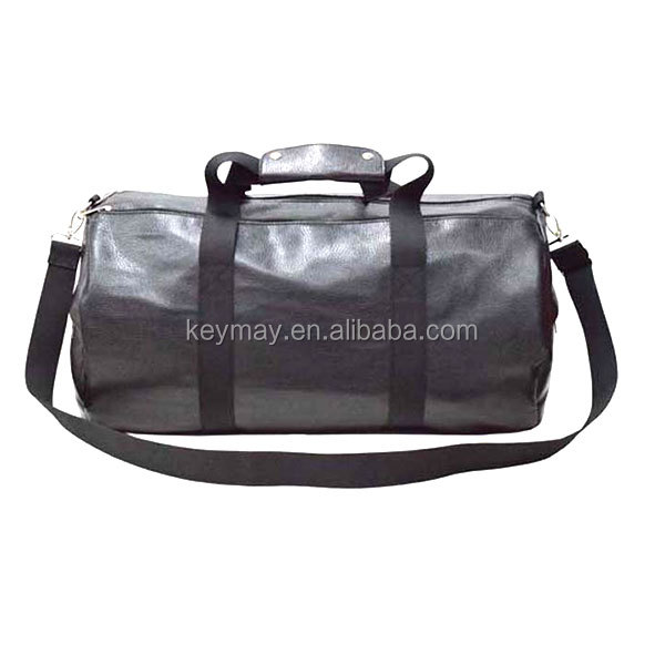 handle PU balck best gym bags for men Round travel duffel bag