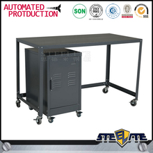 Lockable Cheap Movable Office CKD Metal Rolling Desk