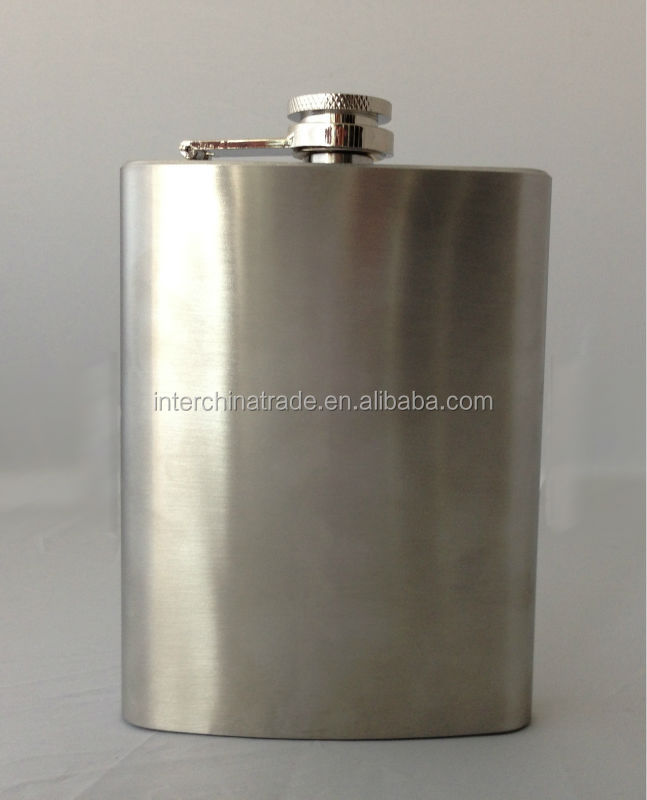 Fashionable Stainless Steel Flask Pocket Bottle 8oz