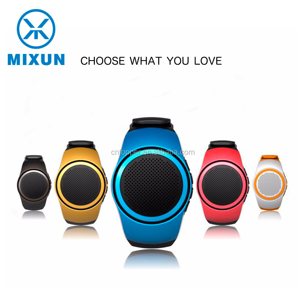 Watch Style Mini Protable Smart Wearable Bluetooth Stereo B20 Hands-Free Calls Insert TF Card Speaker