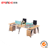 Wooden Workstation Furniture 4 Seat Office
