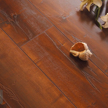 Raised texture wood grain composite laminated flooring