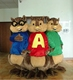 alvin and the chipmunks mascots alvin and the chipmunks mascot costumes