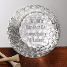 personalized corporate engraved logo crystal golf ball award souvenirs gifts favors