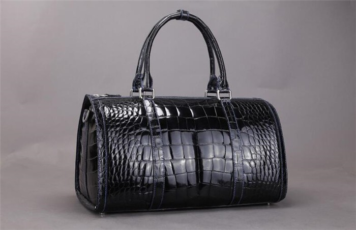 New Arrival OEM High End Luxury Genuine Crocodile Leather Duffle Bag for Men Travel Bag _6