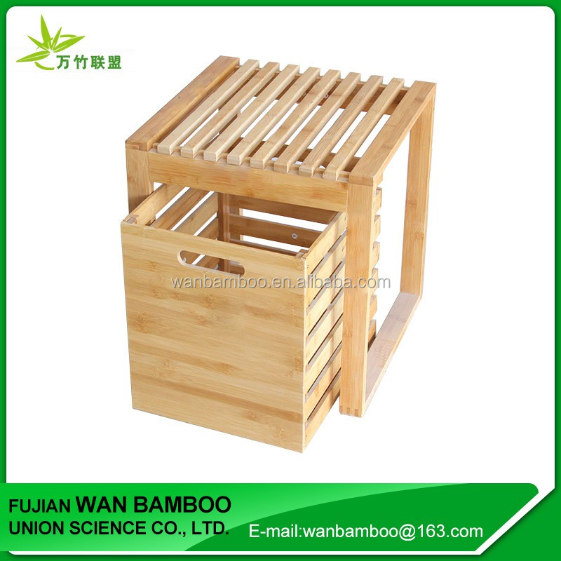 Cheap Small Bamboo Changing Shoe Bench with Storage Box
