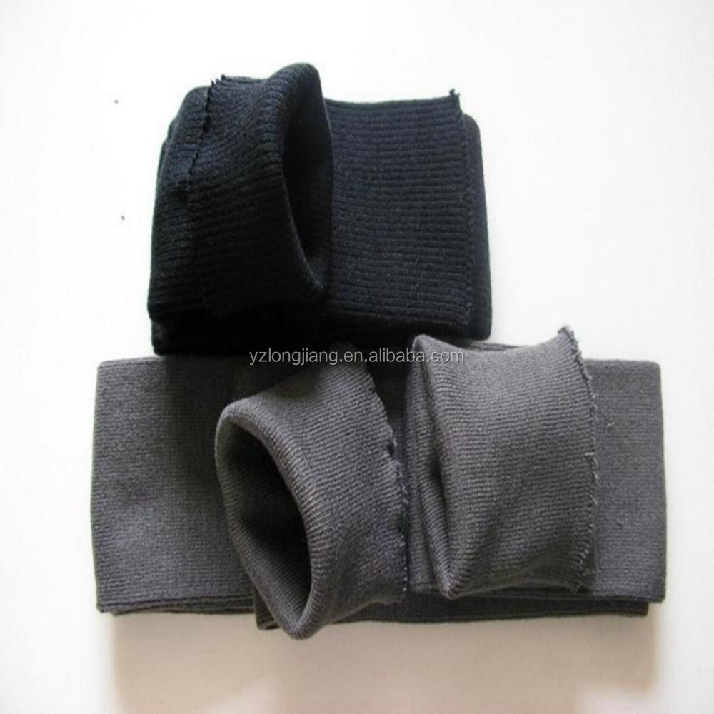 heavy weight cotton knit jersey fabric cuff and collar in cheap price