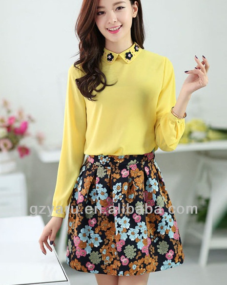 latest style design 2014 fashion blouse