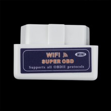 Mini ELM327 WiFi ELM 327 OBDII Car Diagnostic Tool OBD2 Code Reader Scanner For IOS Android ELM WiFi 327 white