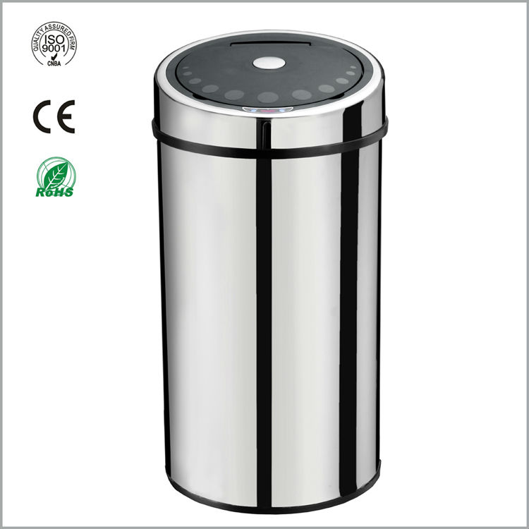 stainless steel sensor recycle bin/can 50L(GYT50-4B-S)