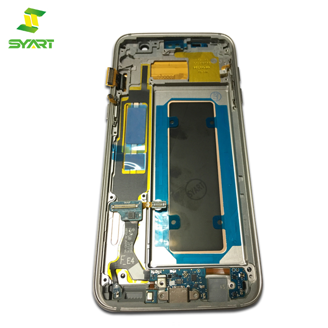 Gold Blue White Black Pink Display For Samsung Galaxy S7 edge G935F full <strong>lcd</strong> With frame Touch digitizer screen replacement parts