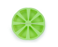 Hot DIY Homemade silicone pizza cake mold slices, Wholesale hot sale 8 portion silicone pizza cake mold slices