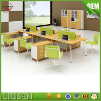 Factory wholesale price 6 cluster office desk partition glass partitions modern furniture china