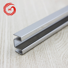Stainless steel tile edge finishing trim for wall panels decorative