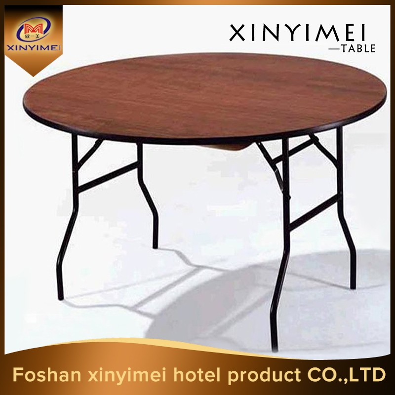Dining folding round wooden dining table and chair XYM-T02