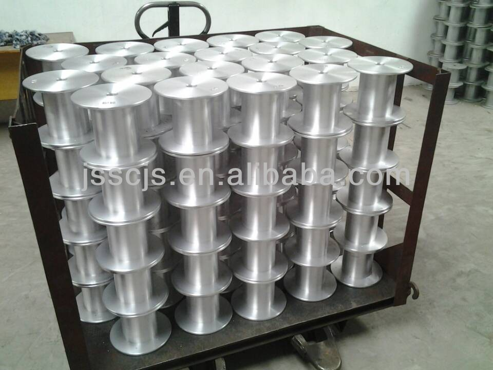 Aluminum steel alloy wire reel for wire drawing,annealing,enameling