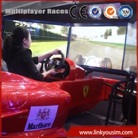 China Theme Park Equipment Factory Direct Sale driving simulator machine with professional car racing games