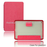 Latest design stand flip pu leather case for ipad mini