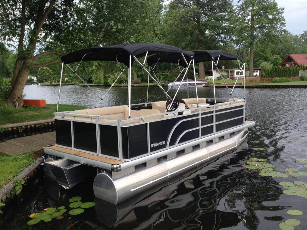 18ft CE Approved Aluminum Pontoon Boat Party Boat Suit for Container Load