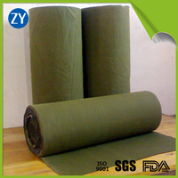 military green waterproof organic silicone coated canvas tarpaulin