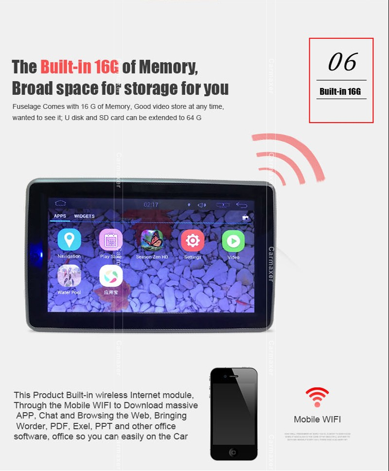 SD/USB/IR/FM/WIFI 4.4.4 system car headrest android tablet 10 inch monitor wifi touch screen for car