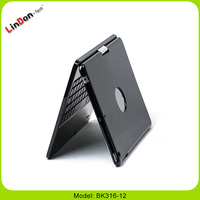 Black/White 360 Degree Rotating ABS Bluetooth 3.0 Keyboard for iPad Air BK316-12