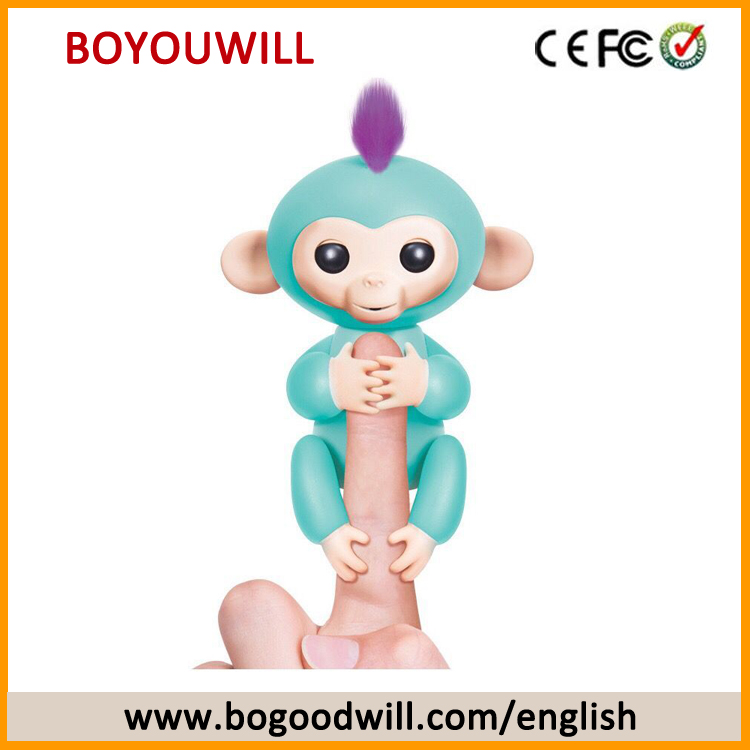 2017 Hot Selling Halloween Christmas Gift Toy Interactive Finger Baby Monkey for Kids