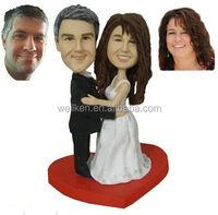 custom made wedding bobble head,customized couple bobbleheads