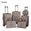 2017 Fashionable PVC Design Aluminum Trolley Spinner Wheel Fabric Lining Leather Luggage Bag