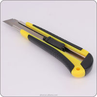 25mm Carbon Steel Blade ABS and Rubber Coated Utility Knife