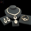 2018 New Arrival Reflective Products White Pendant Women elegant Dress Jewelry Set