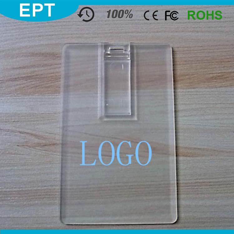 Acrylic Transparent Business Credit Card Assembly USB Flash Drive